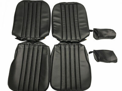 MERCEDES 28SL, W113 1968-71 Seat Covers kit 63-71 MB - Tex Vinyl Black