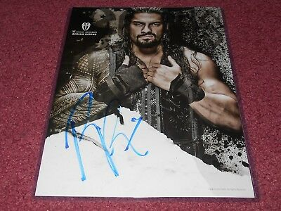Roman Reigns Wwe Signed 11X14 Photo Poster Wwe Shop Authentic Autograph