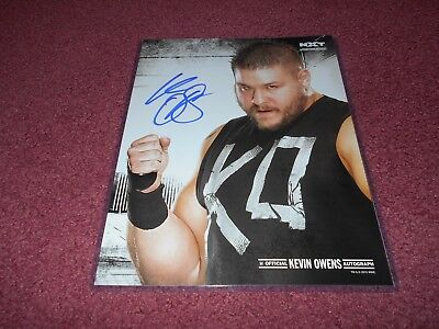 Kevin Owens Wwe Signed 11X14 Photo Poster Wwe Shop Authentic Autograph