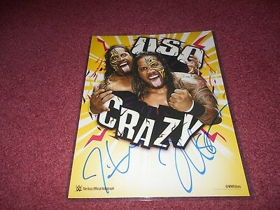 The Usos Wwe Signed 11X14 Photo Poster Wwe Shop Authentic Autograph