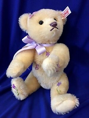 STEIFF 2010 Genuine Mohair ALEXANDRA THE BUTTERFLY BEAR  LE 1500 Rare Purple