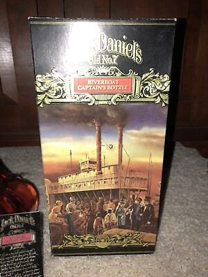 Jack Daniel's Riverboat Captain Decanter Box Tag Unregistered
