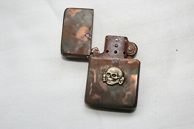 WW2 German military lighter with Skull 1944