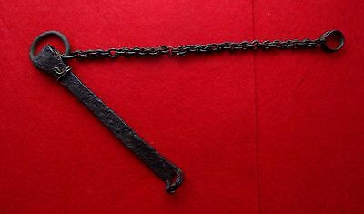 Viking Iron Key with Bronze Chain