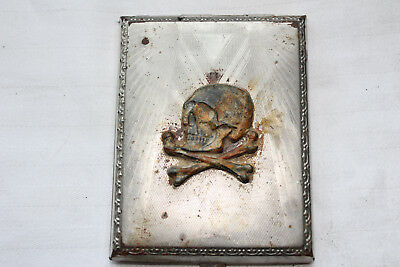 WW2 German military Cigarette Case With Skull