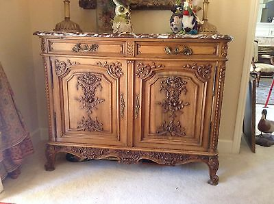 Gorgeous Louis XV french walnut buffet cabinet