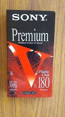 Sony Premium E-180 Blank Tape New & Sealed
