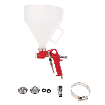 Hopper Spray Gun Paint Texture Tool Drywall Wall Painting Sprayer w/3 Nozzle