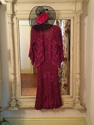 Ann Balon Wedding Cruise Occasion Italian Lace Wedding Outfit Size L Large 14 16