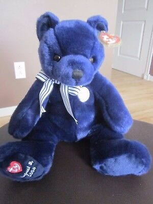 Ty Beanie Buddy New York Yankee World Class Bear - 2004 MWMT