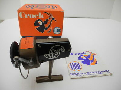 Vintage New Old Stock CRACK 1100 Spinning Reel with Box & Instr. Made in France