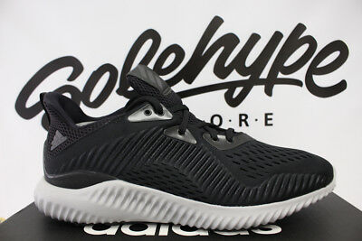 4770a6fae21 Adidas Alphabounce Em Utility Core Black White Running Shoe By4264 Sz 9