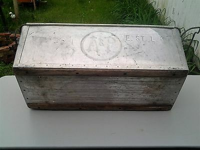 Vintage A & P Grocery Galvanized Metal Cooler Bin with Handles