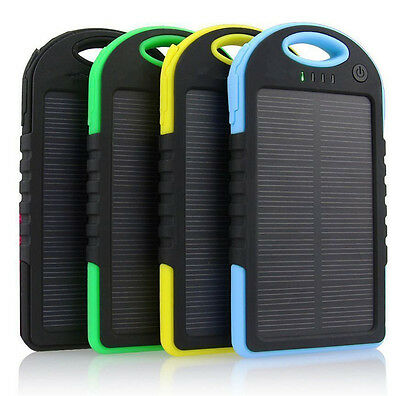 Waterproof 300000mAh Portable Solar Charger Dual USB Battery Power Bank