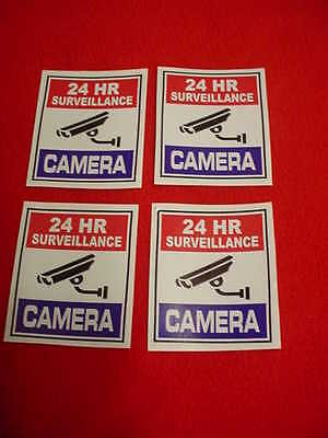 4 SURVEILLANCE SECURITY CAMERA WARNiNG DECAL/STICKERS for HOME or BUSINESS