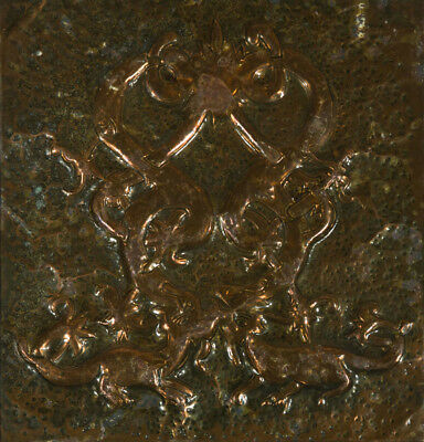 Early 20th Century Antiques - Newlyn Style Repousse Copper Panel