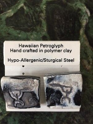 Hawaiian Petroglyph Earrings by Ka'ala Designs