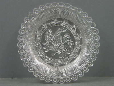 Antique Lacy Period Cup Plate Lee Rose Lr-670 Scarce Eagle Stars 36 Bull's Eyes