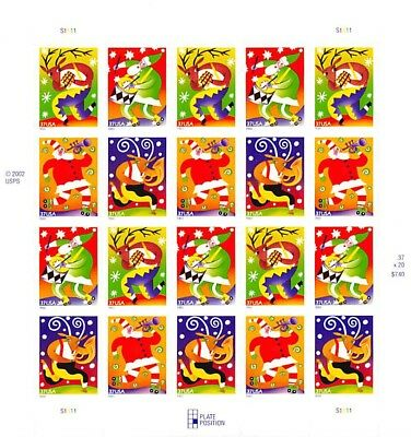 Holiday Music MakersSelf-Adhesive Stampsscott #3825-3828Face $7.40 S001152