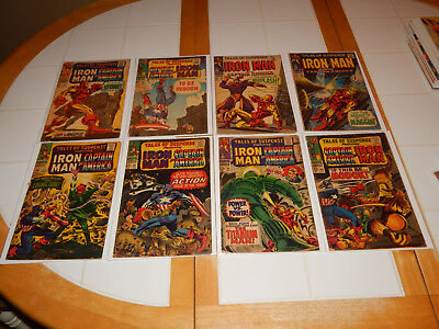 """Large Silver Age Lot Of 8 Comics """"Iron-Man & Captain America"""" #'s 80-99 VG+ Cd."""