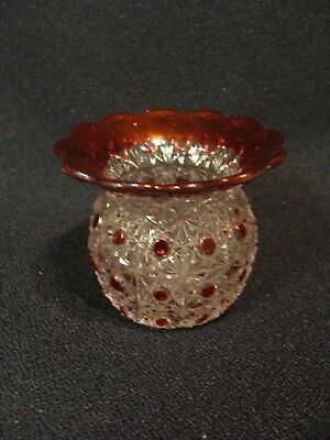 EAPG  Bryce Brothers Glass Co's Ruby Stained Fashion Toothpick