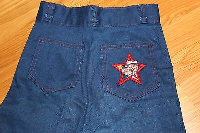 NOS 1970s 1980s Girls' Boys' Popeye the Sailor Man Blue Jeans King Comics Patch
