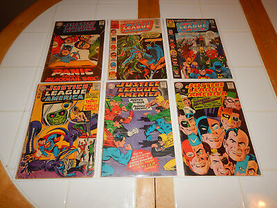 Large Silver Age Lot Of 6 Comics The Justice League Of America #'s 33-88 VG+ Cd.