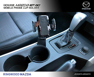 New Genuine Mazda BT-50 UP UR Mobile Phone Cup Holder Accessory Part UP12ACMPH