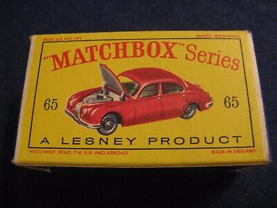 BOX for a MATCHBOX SERIES 1965 JAGUAR 3-8 SEDAN....FINE CONDITION!