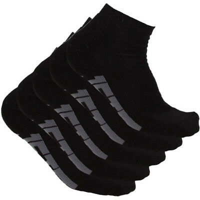 Jetpilot NEW Mx Corp Black Mens OSFM Ankle Sports Socks 5 Pair Pack