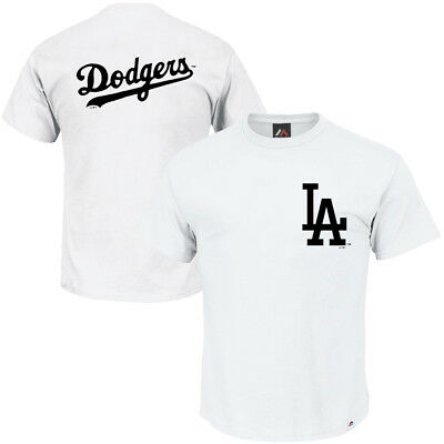 Los Angeles Dodgers Majestic MLB Gamily Logo T-Shirt - White