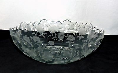 "Cambridge MARTHA BLOSSOM TIME CRYSTAL *9"" ROUND BOWL*"