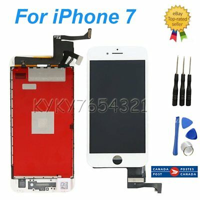 "LCD Touch Digitizer Screen Display Replacement for White iPhone 7 4.7"" CA STOCK"