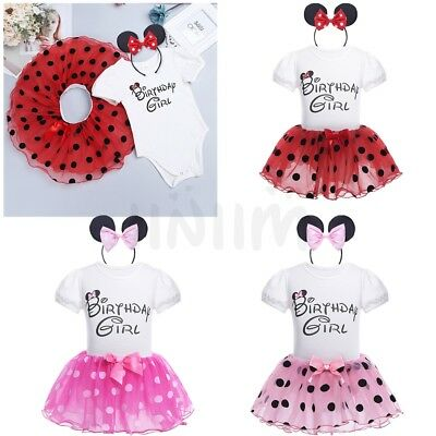 Toddler Princess Birthday Girl Party Dress Kids Baby Tutu Skirt Romper Clothes