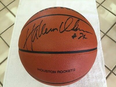 Hakeem Olajuwon Signed Game Used NBA Basketball
