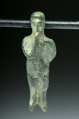 Rare Romano-Egyptian Bronze Amulet of Horus Lot 3D