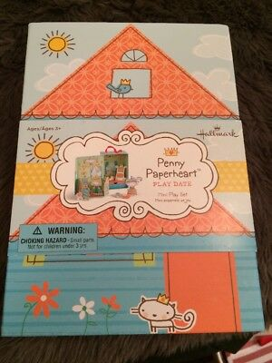 Hallmark Penny Paperheart Play Date Mini Shoe Box Paper Doll Play Set