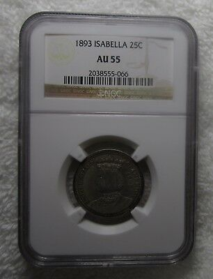 1893 Isabella Commemorative Quarter Dollar – Ngc Certified Au 53