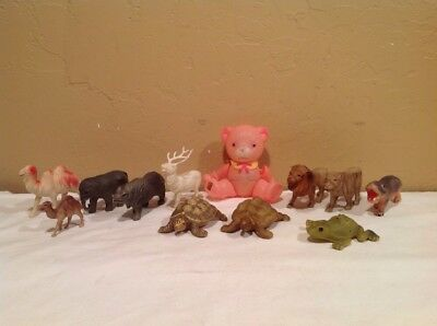 Vintage Lot Of Plastic Celluloid Misc Animals Safari? And Others