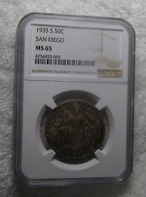 1935 S California Pacific International Exposition San Diego Comm Half – Ngc