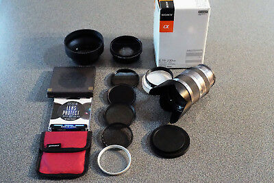 Sony E Mount 18-200mm F3.5-6.3 OSS (For NEX or a6000,6300,6500) and accessories