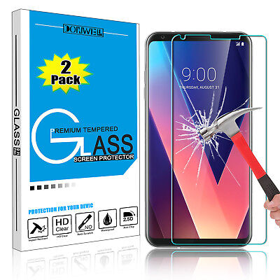 For LG V30/ V35/ V40 ThinQ Premium 9H Tempered Glass Screen Protector Clear Film
