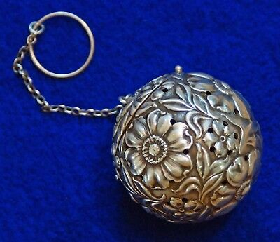 Watrous Mfg Co Sterling Silver Tea Strainer Ball