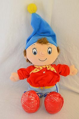 """Play By Play Noddy Rare Character Big 20"""" Plush Doll Damaged Shoes Stain on Back"""