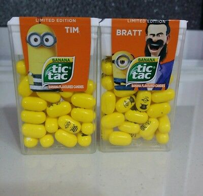 Tic Tac Despicable Me 3 TIM & BRATT (Limited Edition) FREE SHIPPING & Tracking