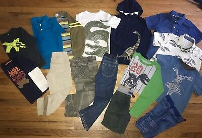 Gymboree Boys 5 6 LOT Shirts L/S T-Shirts Jeans Dinosaur Crocodiles Wes & Willy