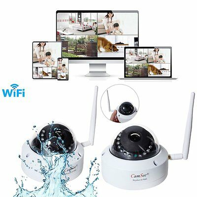 Vandalproof Wireless Wifi IP 720P Dome IP Camera Network ONVIF Outdoor Security