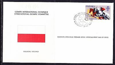 Poland 1980 - Olympic Committee EMBOSSED First Day Cover