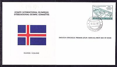 Iceland  1980 - Olympic Committee EMBOSSED First Day Cover