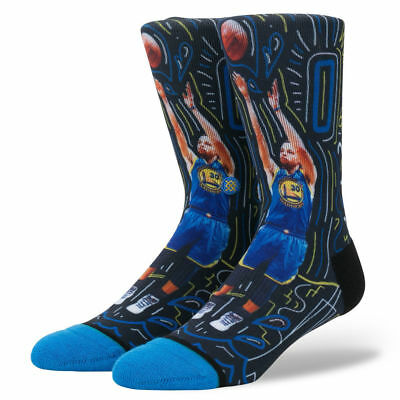 Steph Curry Golden State Warriors Stance NBA Sketchbook Crew Socks - Black